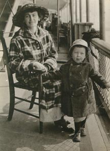 Ethel and Milton on a ferry