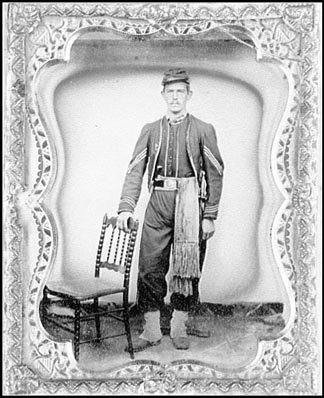 An unknown Infantryman from the 23rd Massachusetts. Click here to go to this web site of Civil War photo`s